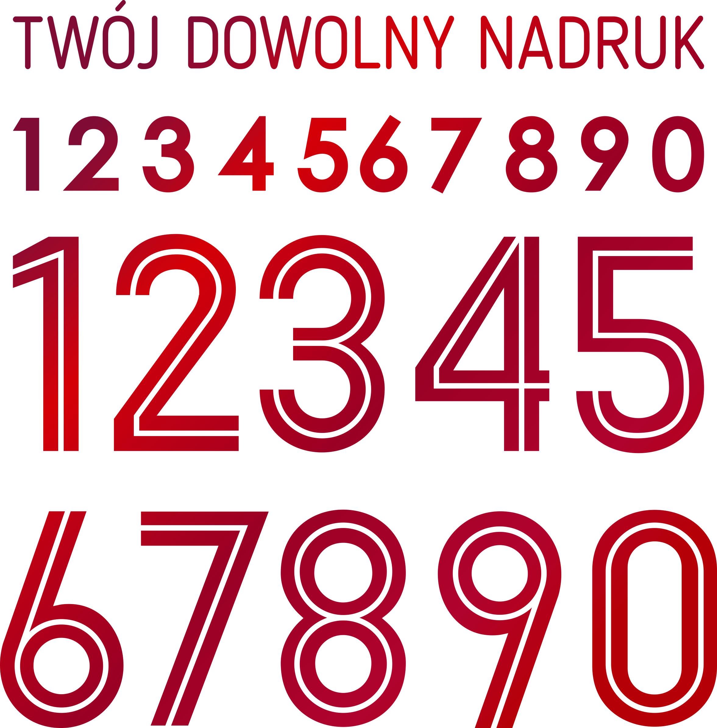 reprezentacja polski czcionka numery nazwiska